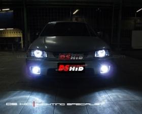 DS Projector Bixenon + Angel Eyes ( Headlamp ) DS HID 6000K ( Foglamp )