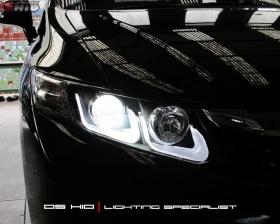 Headlamp DS Version Honda Civic + DS HID 6000K ( Headlamp ) DS HID 6000K ( Foglamp )