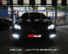 Headlamp C Class OEM Look + DS HID 6000K  DRL C Class W204