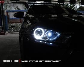 DS HID 6000K + Angel Eyes