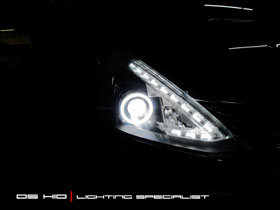 DS Projector + DS HID 6000K + Angel Eyes LED
