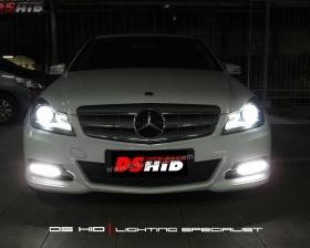 Headlamp DS Version C Class W204 + DS HID 6000K  Drl C Class W204