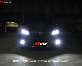 DS HID 6000K + Angel Eyes + Blackhousing ( Headlamp ) DS HID 6000K ( Foglamp )