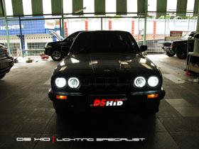 DS HID 6000K + Angel Eyes BMW Seri 3 E30