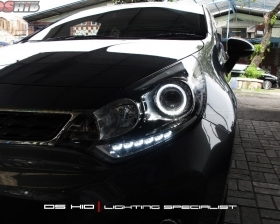 DS Projector Bixenon + DS HID 6000K + Angel Eyes + LED Strip