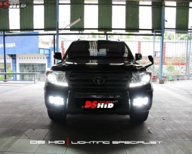 Headlamp Toyota Land Cruiser OEM Look + DS HID 6000K ( Headlamp ) DS HID 6000K ( Foglamp )
