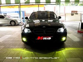 Headlamp Seri 3 E90 + DS HID 6000K ( Headlamp ) DS HID 3000K ( Foglamp )