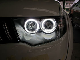 Angel Eyes LED + Black Housing