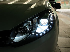 Headlamp Projector Bixenon VW Golf MK6 + DS HID 6000K ( Headlamp ) DS HID 3000K ( Foglamp )