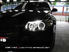 Headlamp BMW Seri 3 E90 DS HID Biru ( Low Beam + Foglamp )