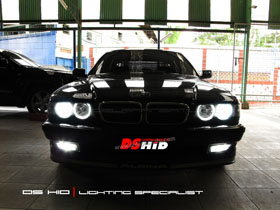 DS HID 6000K + Angel Eyes BMW Seri 7 E38