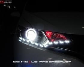 DS Projector Bixenon + DS HID 6000K + Angel Eyes + LED Strip ( Headlamp ) DS HID Biru ( Foglamp )