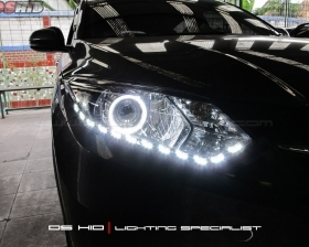 DS Projector Bixenon + DS HID 6000K + Angel Eyes + LED Strip ( Headlamp ) DS HID 6000K ( Foglamp )