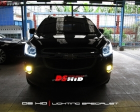 DS Projector Bixenon + DS HID 6000K + LED Strip ( Headlamp ) DS HID 3000K ( Foglamp )
