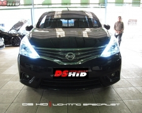 DS HID 8000K + LED Strip ( Headlamp ) DS HID 8000K ( Foglamp )