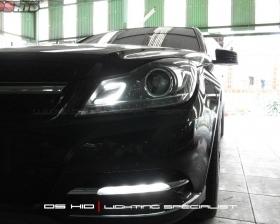 Headlamp C Class W204 + DS HID 6000K