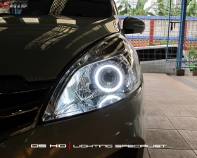 DS Projector Bixenon + DS HID 6000K + Angel Eyes ( Headlamp ) DS HID 3000K ( Foglamp )