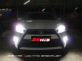 DS HID 6000K ( Headlamp + Foglamp ) DRL Toyota Yaris