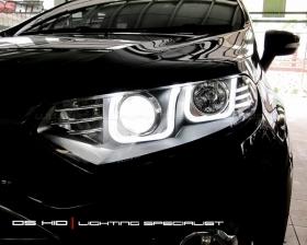 Headlamp DS Version Ford Ecosport + DS HID 6000K ( Headlamp ) DRL Ford Ecosport