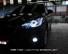 Angel Eyes + LED Strip ( Headlamp ) DS HID 6000K ( Foglamp )