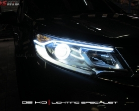 DS HID 6000K + Angel Eyes + LED Strip ( Headlamp ) DS HID 3000K ( Foglamp )