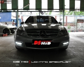 DS HID 6000K + DRL C Class W204
