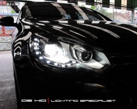 Headlamp VW Golf Mk6 DS Version + DS HID 6000K