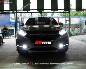 DS Projector Bixenon + DS HID 6000K + Angel Eyes + LED Strip ( Headlamp ) DS HID 6000K + DRL Honda HRV ( Foglamp )