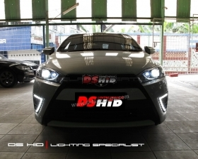 DS HID 6000K + DRL Toyota Yaris