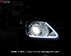 DS Projector Bixenon + DS HID 6000K + LED Strip ( Headlamp ) DS HID 6000K ( Foglamp )