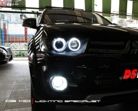 Angel Eyes LED + Blackhousing ( Headlamp ) DS HID 6000K ( Foglamp )