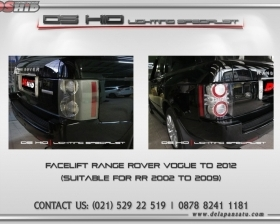 Facelift Range Rover Vogue 2004 to 2010+ look