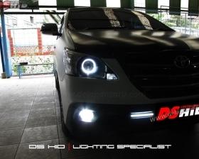 DS Projector Bixenon + DS HID 6000K + Angel Eyes + Blackhousing ( Headlamp ) DS HID 6000K ( Foglamp )