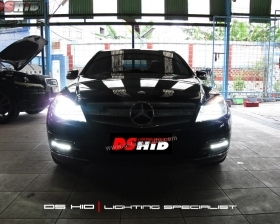 DS HID 6000K DRL C Class