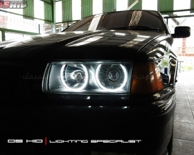 DS HID 6000K + Angel Eyes BMW E36