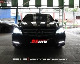 DS HID 6000K  DRL C Class W204 Facelift