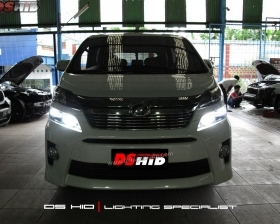 DS HID Replacement Bulb 6000K + Sillplate Toyota Vellfire