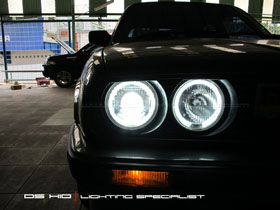 DS HID 6000K +Angel Eyes BMW Seri 3 E30