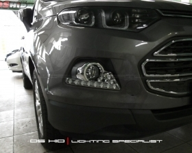 DS HID 3000K + DRL Ford Ecosport
