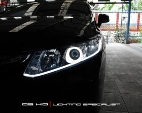 DS HID 6000K + Angel Eyes + LED Strip
