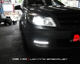DS HID 6000K  DRL C CLass W204
