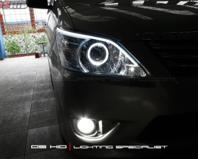 DS Projector AFS + DS HID 6000K + Angel Eyes + LED Strip ( Headlamp ) DS HID 4300K ( Foglamp )
