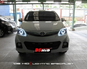 DS Projector Bixenon + DS HID 6000K + Angel Eyes + LED Strip + Black Housing
