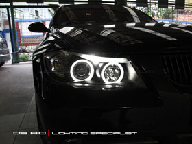 Headlamp BMW Seri 3 E90 DS HID Biru ( Low Beam + Foglamp )