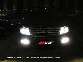 Double DS Projector + DS HID 6000K + LED ( Headlamp ) DS HID 6000K ( Foglamp )