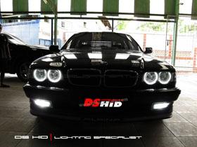 DS HID 6000K + Angel Eyes BMW Seri 7 E38