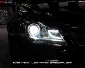 Headlamp C Class DS Version W204 + DS HID 6000K ( Headlamp ) DRL C Class W204