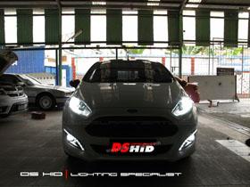 DS HID 6000K ( Headlamp + Foglamp )  DRL Ford Fiesta