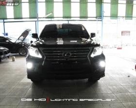 Facelift Lexus LX 570 to 2013 model  DS HID 4300K ( Low Beam + Foglamp )