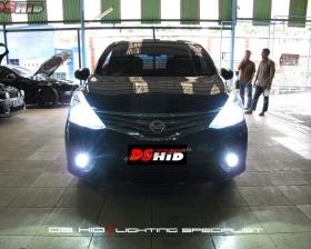 DS HID 8000K + LED Strip ( Headlamp ) DS HID 8000K ( Foglamp )